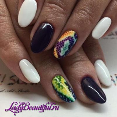 Гель-лак дизайн ногтей картинки 2017 лето овальная форма