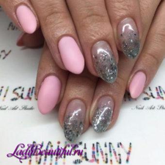 Модная форма и длина ногтей в маникюре гель-лаком 2017