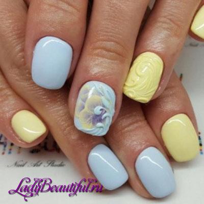 фото дизайна ногтей шеллаком лето 2015