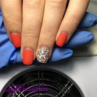 Модный однотонный нейл-арт шеллаком 2017