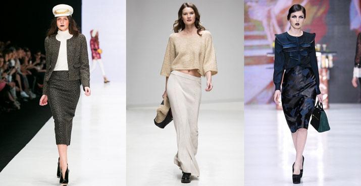 Модные луки с юбками осень-зима 2016-2017: новинки, фото
