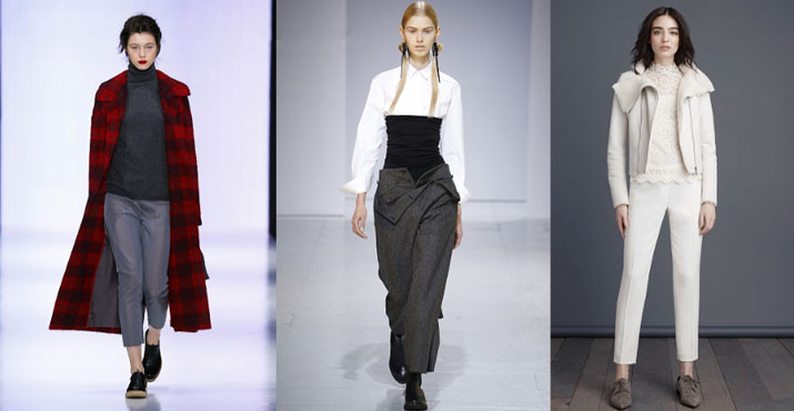 Модные луки с брюками осень-зима 2016-2017: новинки, фото