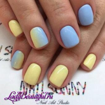 Модный разноцветный маникюр весна-лето 2017