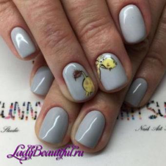 Модные серые ногти весна-лето 2017