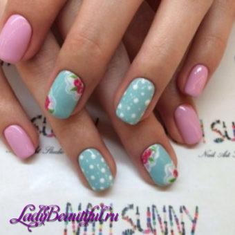 Модный цветочный дизайн ногтей весна-лето 2017