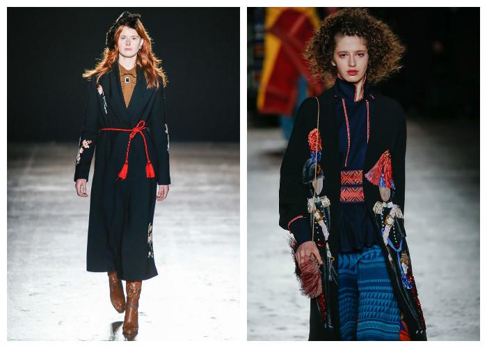 Модные пальто 2017: модные тенденции осень-зима - Вышивка