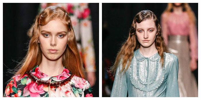 Модный тренд 2017 — челка, уложенная в виде волны