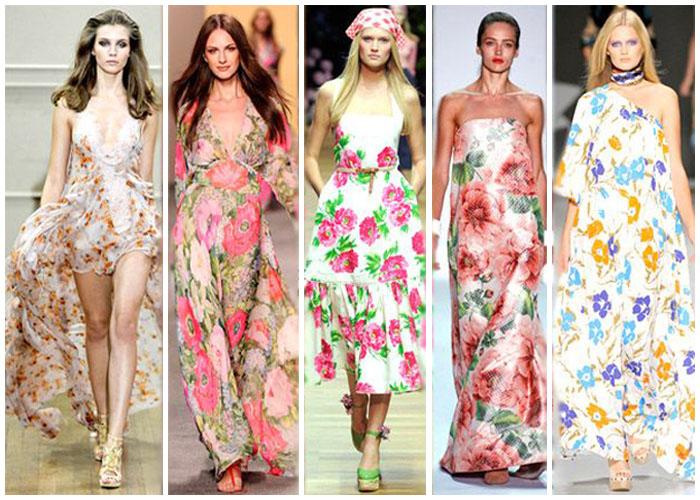 Фото: Модные цветочные принты в одежде