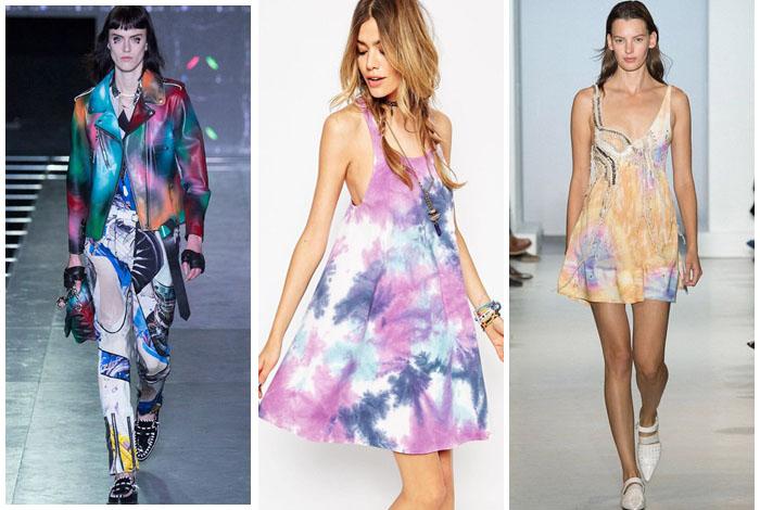 Фото: Модные принты в одежде -Тай-дай