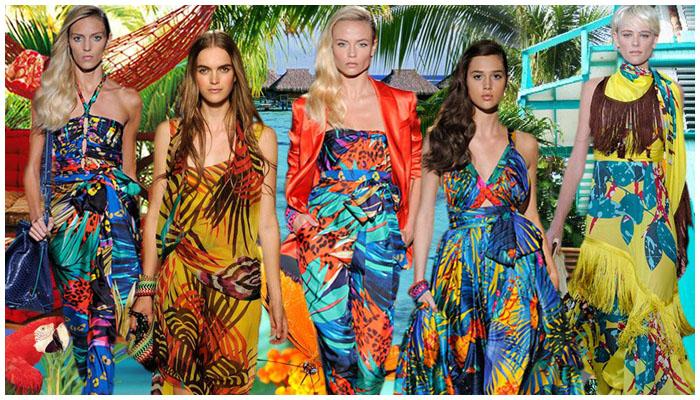 Фото: Модные гавайские принты одежде