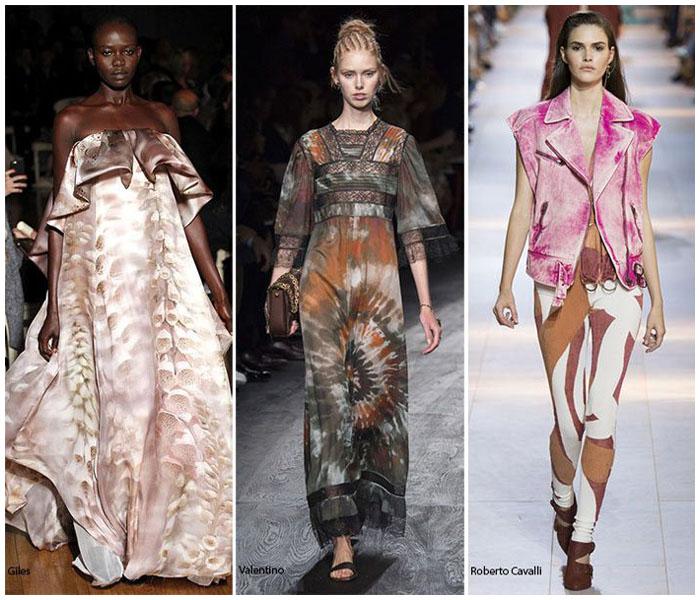 Модные графические мраморные принты в одежде