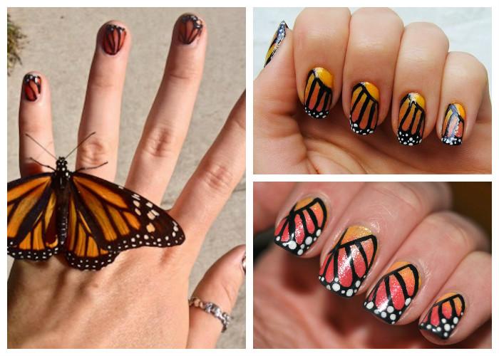 Художественный маникюр с бабочками