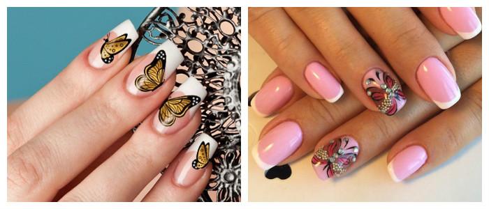 Летний дизайн ногтей с бабочками: фото