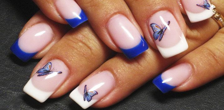 Модный летний маникюр с бабочками: новинки, фото