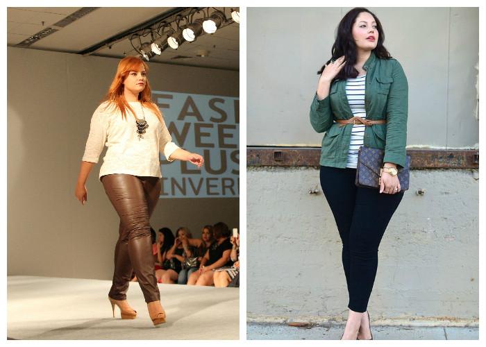 Одежда для полных женщин, фото. Купите модные зауженные брюки.