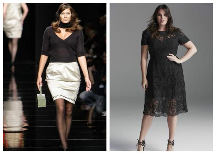 Модная одежда для полных женщин: фото