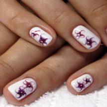 Рисунки на ногтях иголкой: , фото, видео