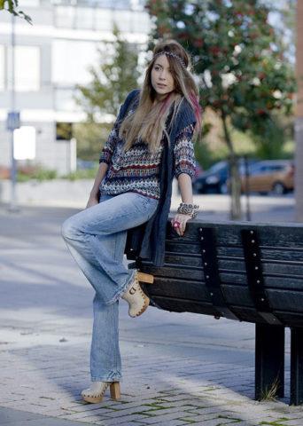 Сабо и джинсы