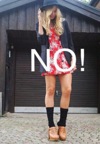 Не стоит носить сабо и с носками