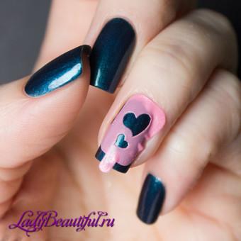 Виды и использование трафаретов для ногтей на основе клейких полосок