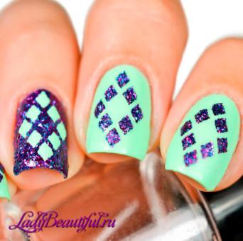 Использование клейких трафаретов для ногтей в процессе создания модного нейл-арта