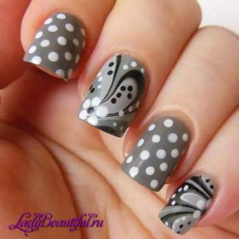 Дизайна ногтей дотсом или рисунки точками
