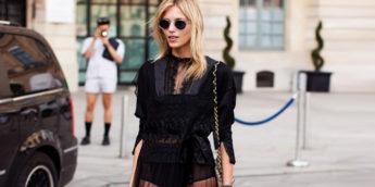 Летние образы с черным платьем: модные луки, фото