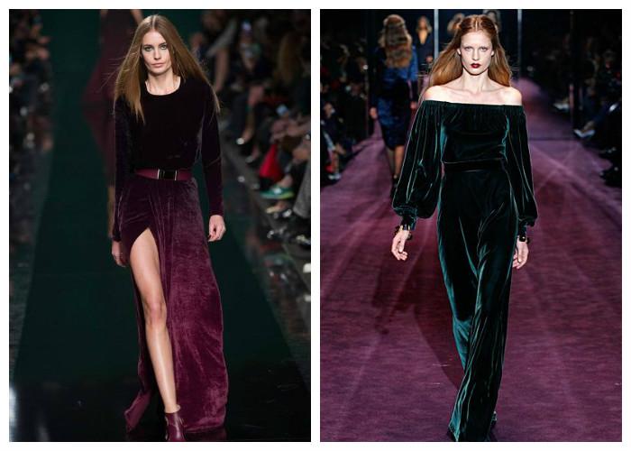 Модные платья 2017. Тренд сезона — бархат, фото