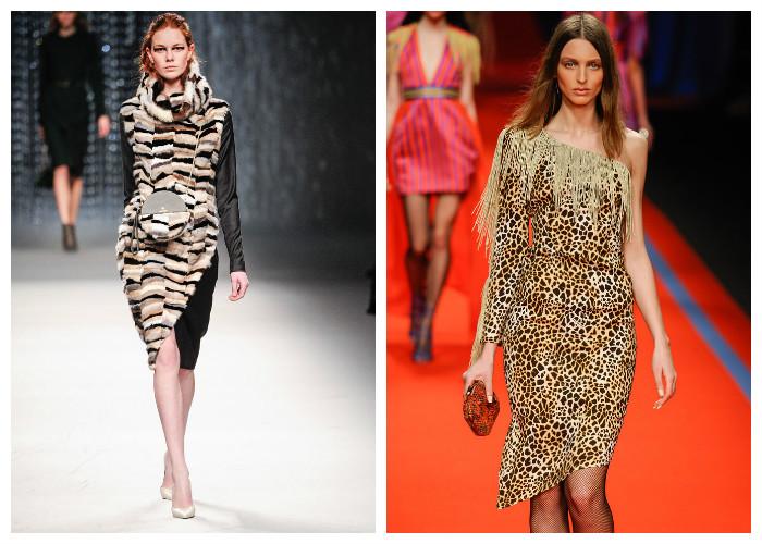 Модные платья 2017, фото. Тенденция: звериный принт