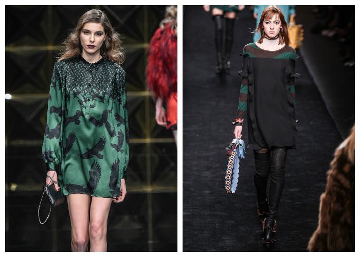 Модные платья 2017, фото. Тенденция: изумрудный и темно-зеленый цвет