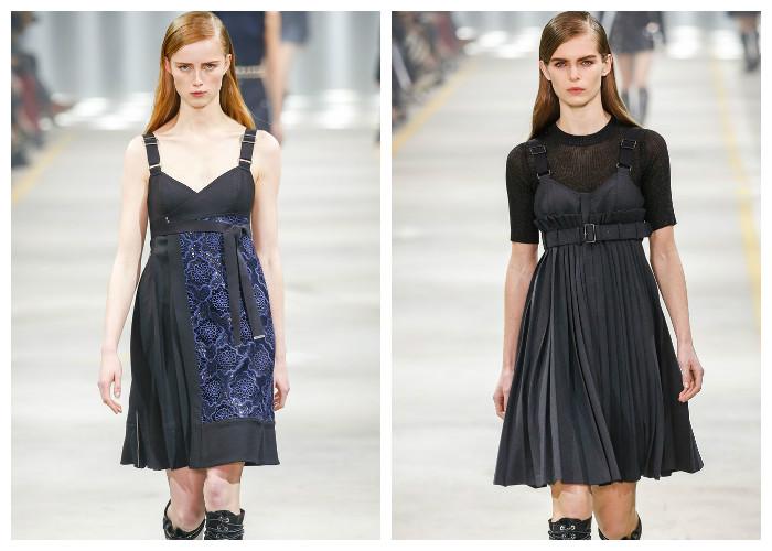 Модные платья 2017, фото. Тенденция: сарафаны с плиссированной юбкой