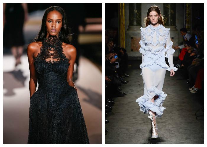 Модные платья 2017, фото. Тенденция: оборки и кружево