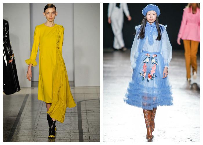 Модные платья 2017, фото. Тенденция: яркие цвета