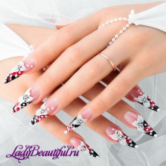 оригинальный и запоминающийся дизайн ногтей на свадьбу