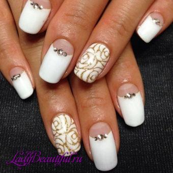 Интересный дизайн ногтей на свадьбу