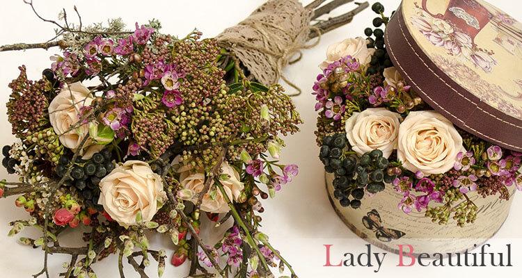стильные букеты из цветов