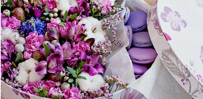 стильные букеты из живых цветов