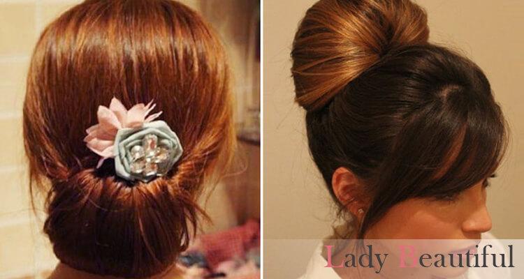 эффектная прическа на средние волосы