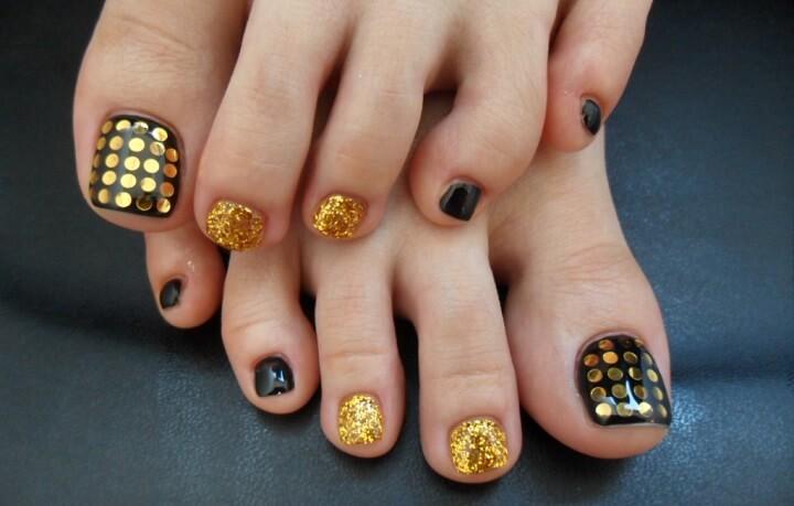 педикюр летний дизайн ногтей