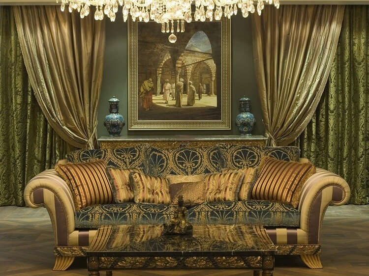 Викторианский стиль в интерьере шторы